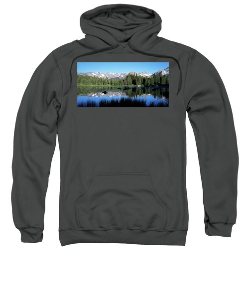 The Indian Peaks Reflected In Red Rock Sweatshirt