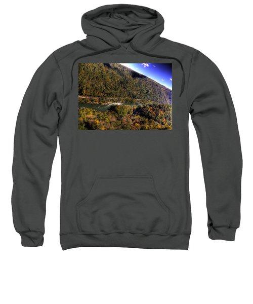 The River Below Sweatshirt by Jonny D