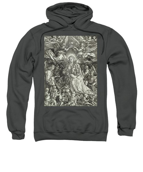 The Virgin And Child Surrounded By Angels Sweatshirt
