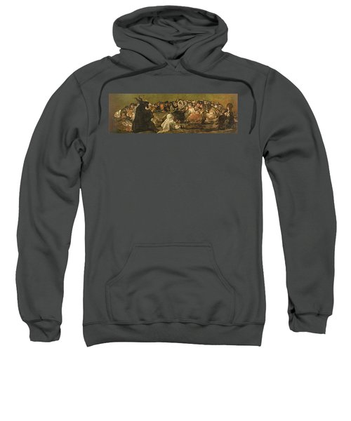The Witches Sabbath Or The Great He-goat, One Of The Black Paintings, C.1821-23 Oil On Canvas Sweatshirt