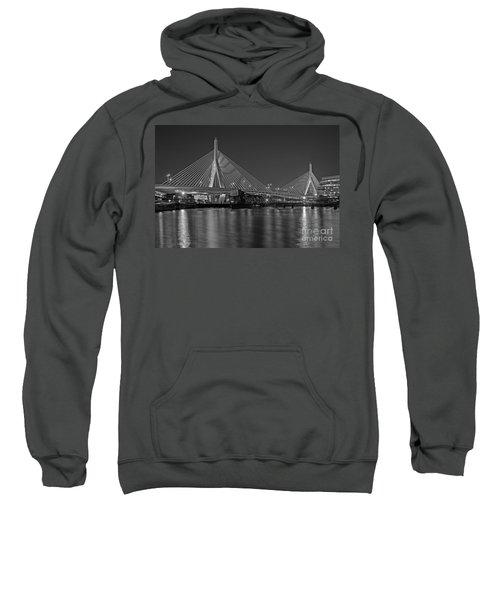 The Zakim Bridge Bw Sweatshirt
