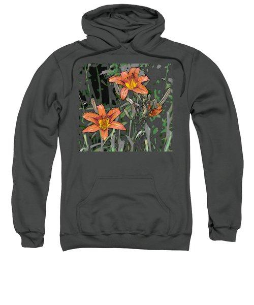 Tiger Lilies Of Canvas Sweatshirt