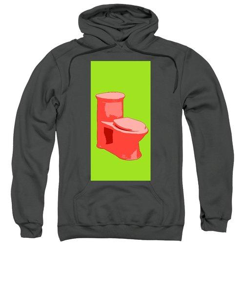 Toilette In Red Sweatshirt