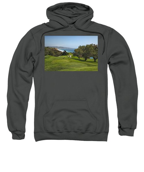 Torrey Pines Golf Course North 6th Hole Sweatshirt by Adam Romanowicz