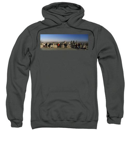 Tourists At An Observation Point Sweatshirt