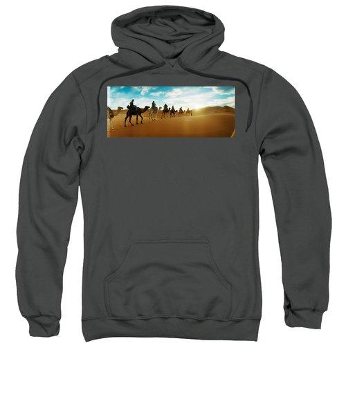 Tourists Riding Camels Sweatshirt