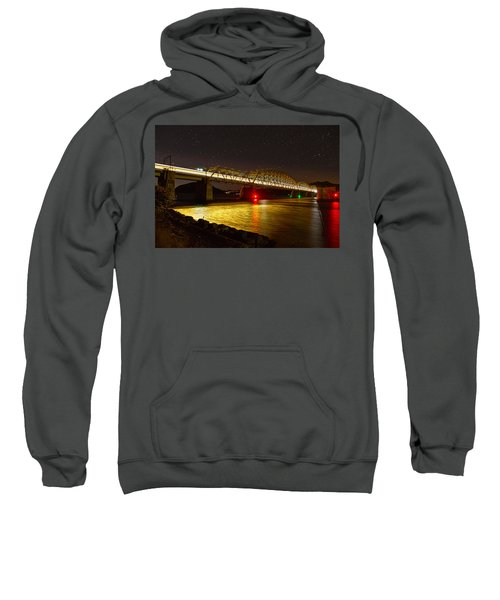 Train Lights In The Night Sweatshirt by Miroslava Jurcik