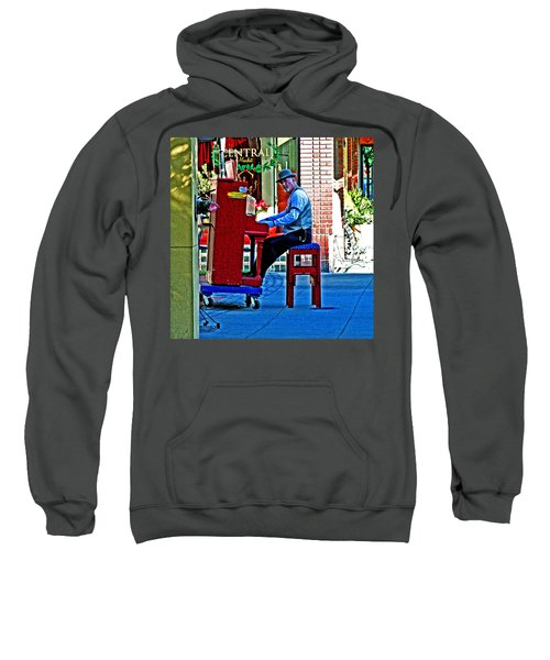 Traveling Piano Player Sweatshirt