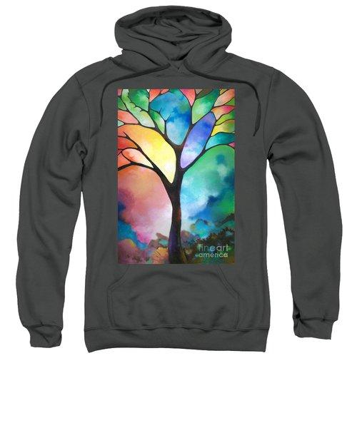 Original Art Abstract Art Acrylic Painting Tree Of Light By Sally Trace Fine Art Sweatshirt