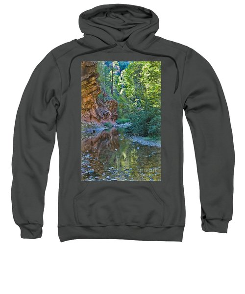 Sweatshirt featuring the photograph Tree Reflection by Mae Wertz