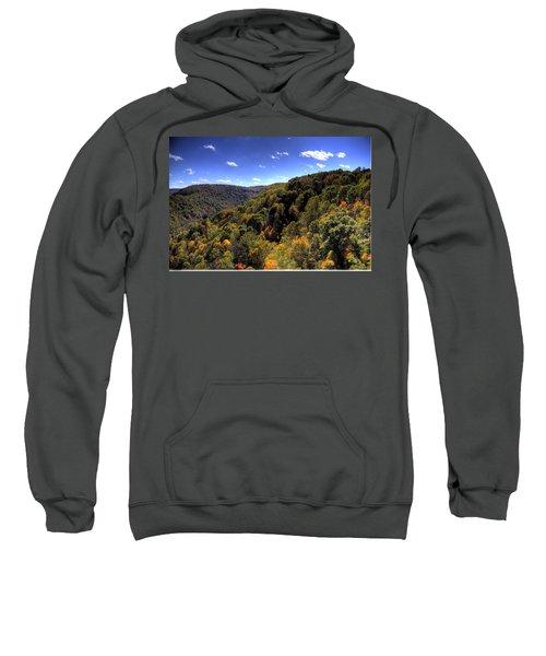Trees Over Rolling Hills Sweatshirt by Jonny D
