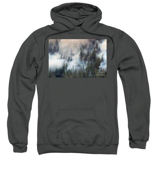 Beaver Fire Trees Swimming In Smoke Sweatshirt