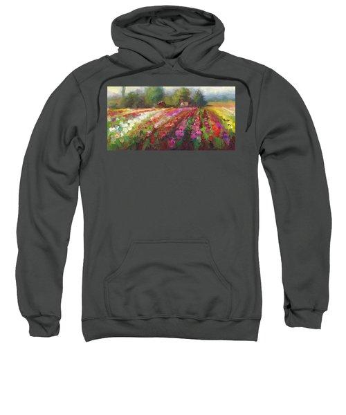 Trespassing Dahlia Field Landscape Sweatshirt