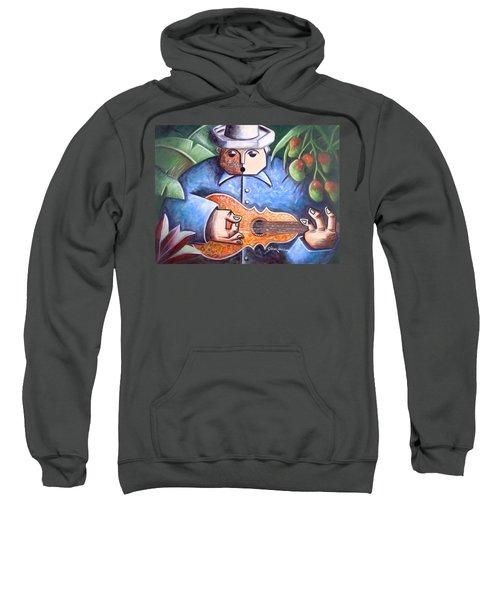 Sweatshirt featuring the painting Trovador De Mango Bajito by Oscar Ortiz