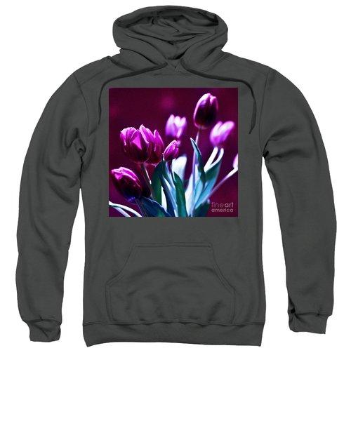 Purple Tulips Sweatshirt