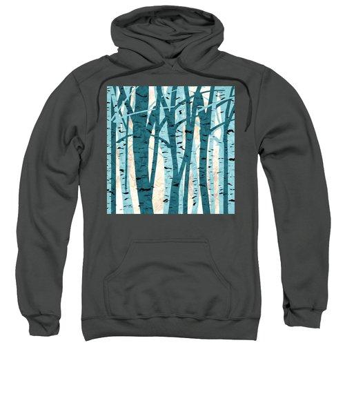 Turquoise Birch Trees Sweatshirt