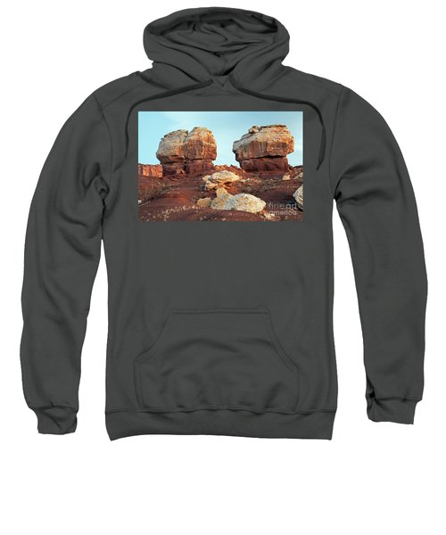 Twin Rocks At Sunrise Capitol Reef National Park Sweatshirt