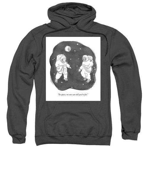 Two Astronauts Float In Space Sweatshirt