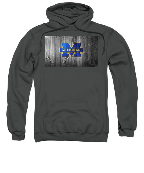 Sweatshirt featuring the digital art University Of Michigan by Dan Sproul