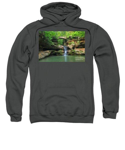 D10a-113 Upper Falls At Old Mans Cave Hocking Hills Photo Sweatshirt