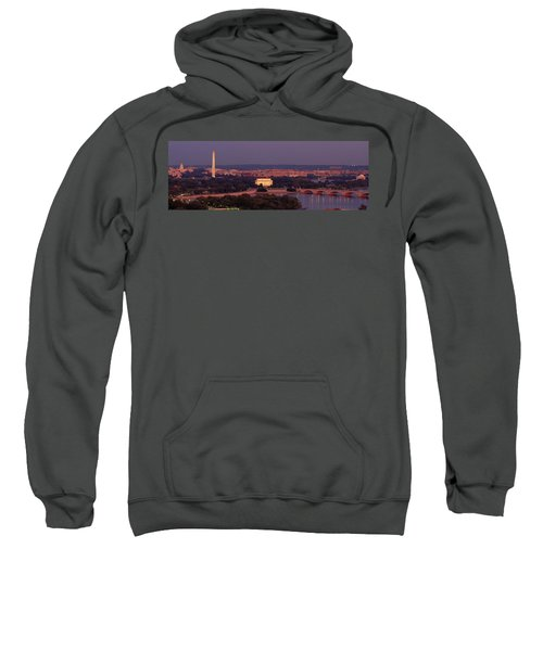Usa, Washington Dc, Aerial, Night Sweatshirt by Panoramic Images