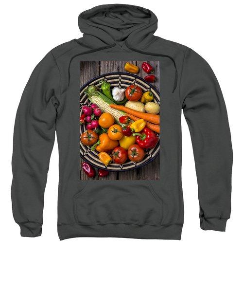 Vegetable Basket    Sweatshirt by Garry Gay