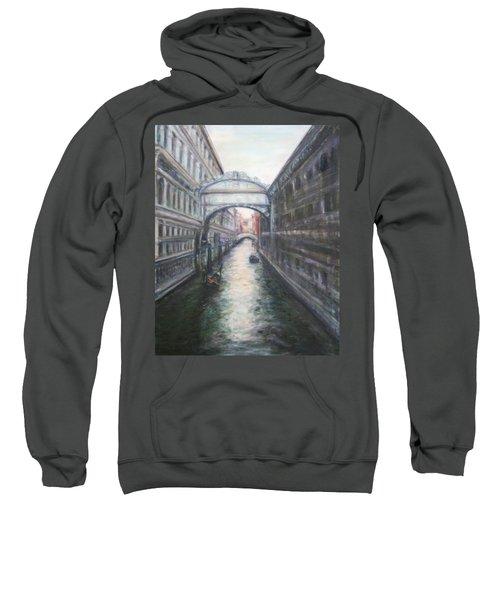 Venice Bridge Of Sighs - Original Oil Painting Sweatshirt
