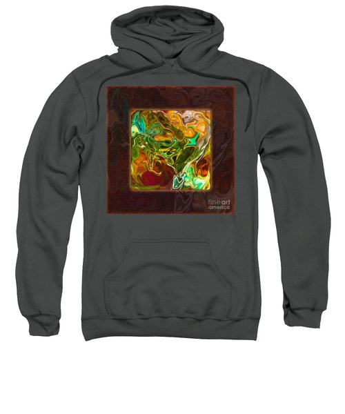 Vibrant Fall Colors An Abstract Painting Sweatshirt