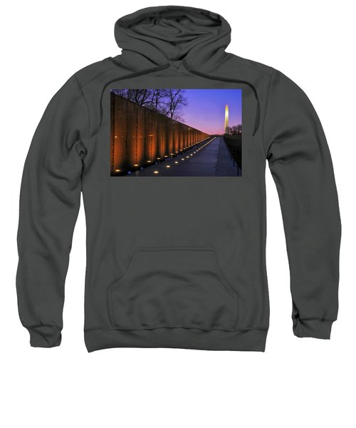Vietnam Veterans Memorial At Sunset Sweatshirt