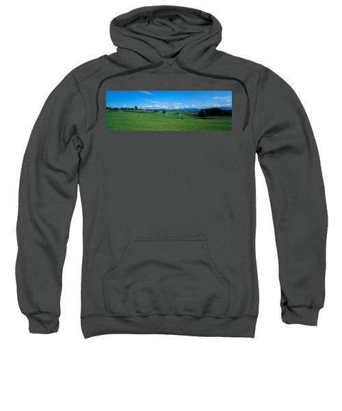 View Along Rural Hillside, Zurich Sweatshirt