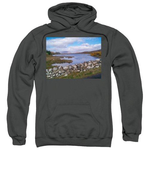 View From Quiet Man Bridge Oughterard Ireland Sweatshirt