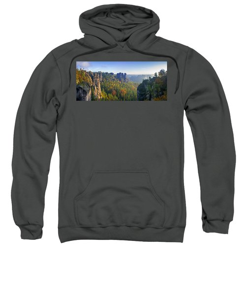 View From The Bastei Bridge In The Saxon Switzerland Sweatshirt