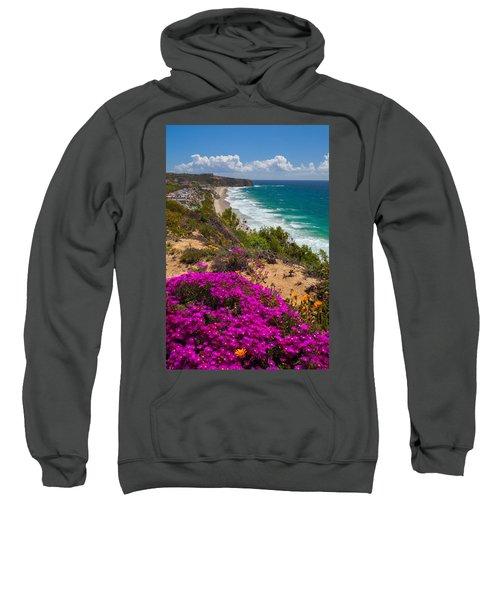 View Of Strand Beach And Dana Point Headland Sweatshirt