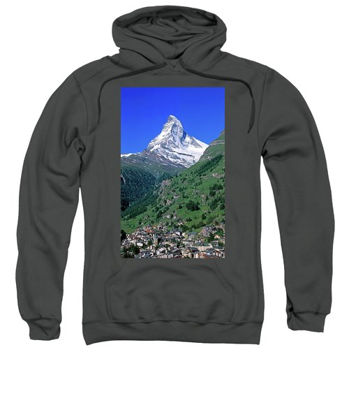 View Of The Matterhorn And The Town Sweatshirt