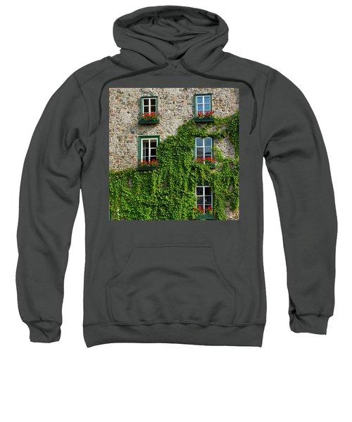 Vine Covered Stone House And Windows Sweatshirt