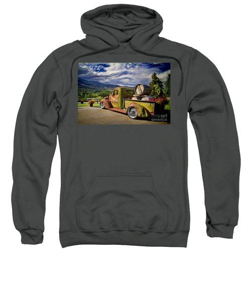 Vintage Chevy Truck At Oliver Twist Winery Sweatshirt