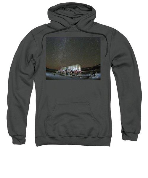 Wagon Train Under Night Sky Sweatshirt