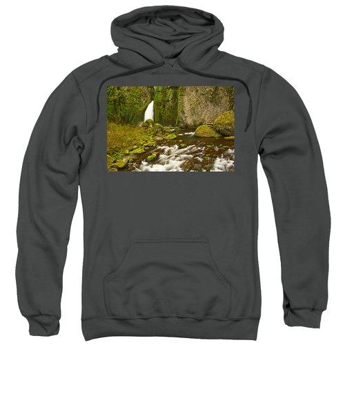 Wahclella Falls In The Columbia River Gorge In Oregon. Sweatshirt
