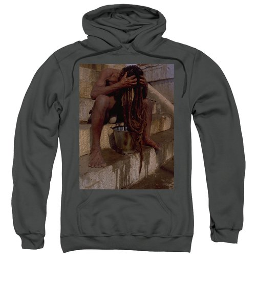 Sweatshirt featuring the photograph Varanasi Hair Wash by Travel Pics