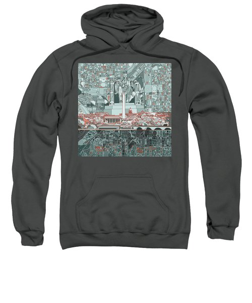 Washington Dc Skyline Abstract Sweatshirt