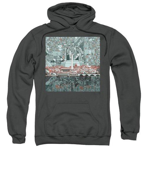 Washington Dc Skyline Abstract Sweatshirt