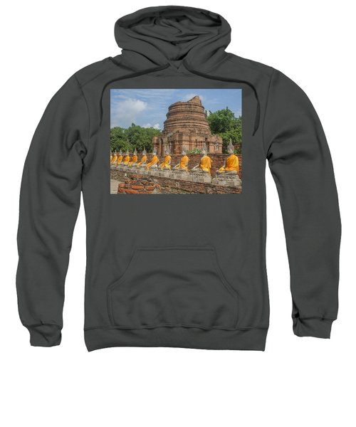 Wat Phra Chao Phya-thai Buddha Images And Ruined Chedi Dtha005 Sweatshirt
