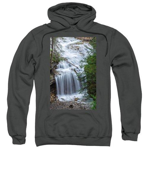 Waterfall Johnston Canyon Banff National Park Sweatshirt