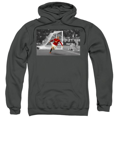 Wayne Rooney Scores Again Sweatshirt by Brian Reaves