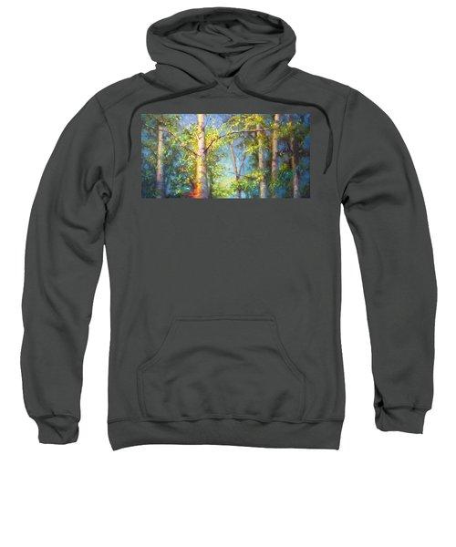 Welcome Home - Birch And Aspen Trees Sweatshirt
