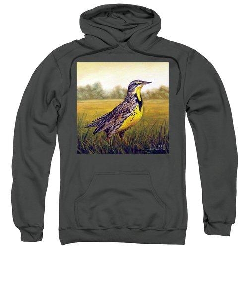 Western Meadowlark Afternoon Sweatshirt by Tom Chapman