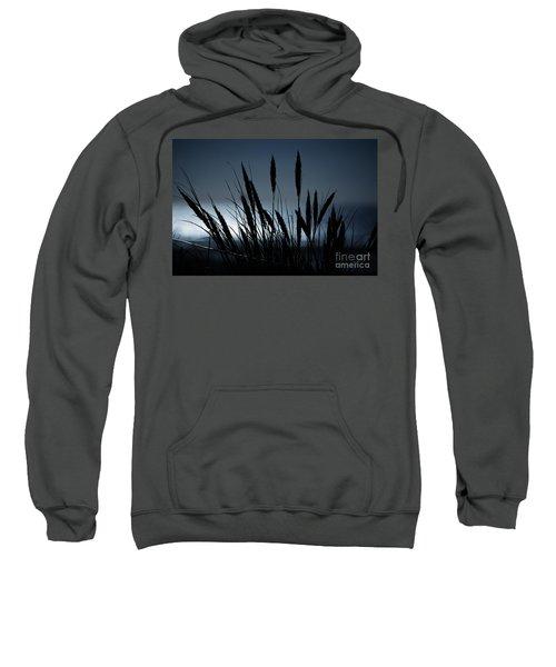 Wheat Stalks On A Dune At Moonlight Sweatshirt