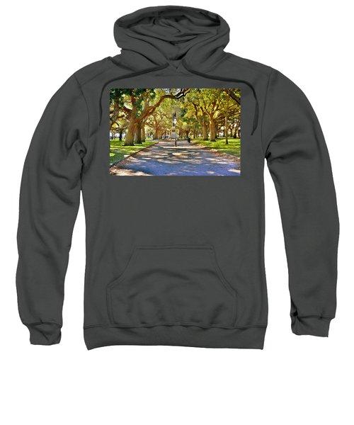 White Point Gardens At Battery Park Charleston Sc Hdr Sweatshirt