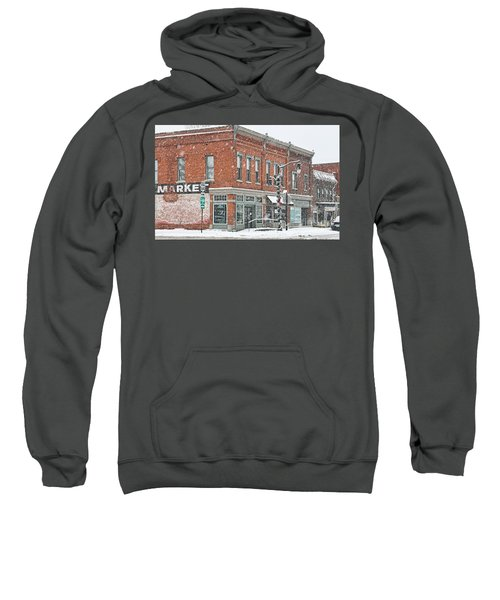 Whitehouse Ohio In Snow 7032 Sweatshirt