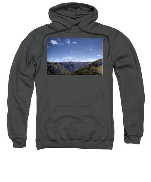 Wide Shot Of Tree Covered Hills Sweatshirt